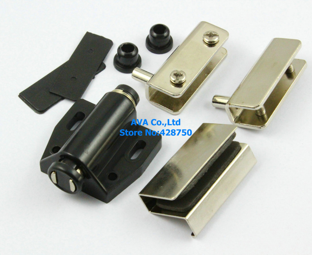 5 sets press open single glass door pivot hinge set clamp clip 5 sets press open single glass door pivot hinge set clamp clip magnetic catch latch in glass clamps from home improvement on aliexpress alibaba group planetlyrics Image collections
