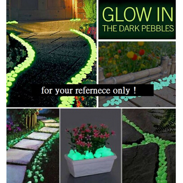 Randon Size Walkway Decoration Stones Fish Tank Night Stone Decorative  Gravel For Garden Yard Cobbles Glow
