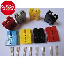 600V 50A SB50 SMH Supply Forklift Battery Charging Plug Gray red Black yellow blue color Connector with 8AWG terminal(China)