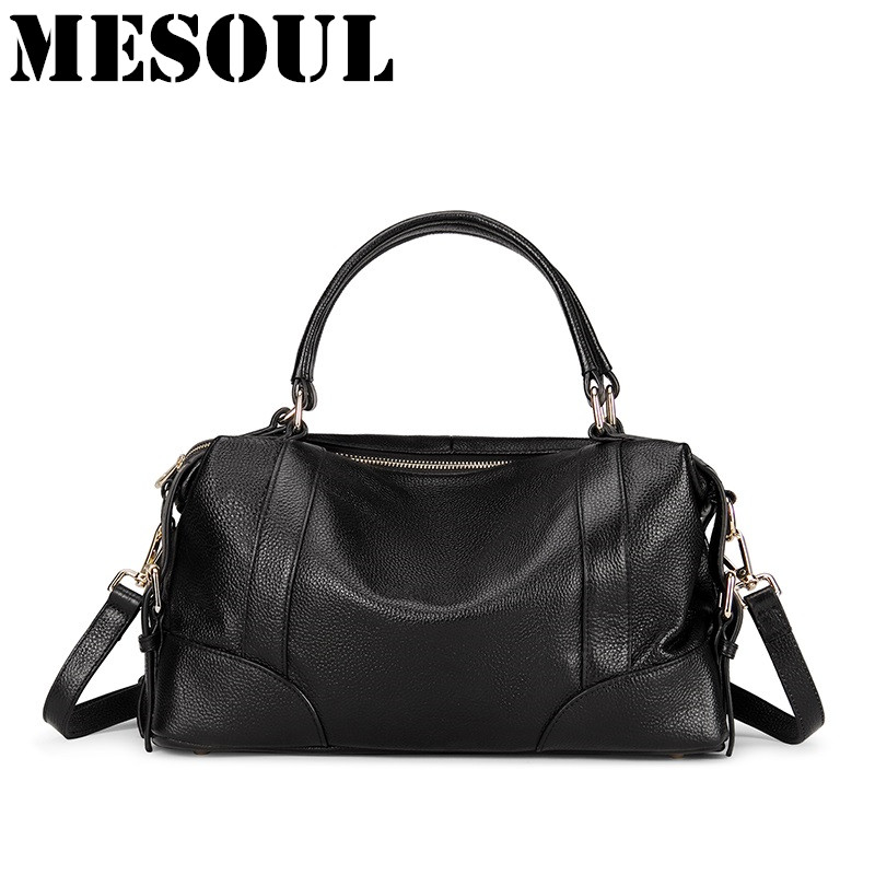 Women Genuine Leather Handbags Large Casual Tote Bag Luxury Soft Cowhide Shoulder Bags Ladies Crossbody Bags Brand Bolsos Mujer qiaobao 2017 new 100% cowhide leather handbags women patchwork ladies hand bags girls soft genuine leather shoulder bag ladybag