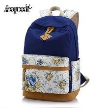 Aequeen женские парусиновые Рюкзаки девочек школьная сумка Цветочные корейский Рюкзаки девочек большой Дорожные сумки Mochila Мода Свинья Нос