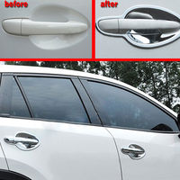 4pcs Chrome ABS Car Exterior Door Handle Bowl Cover Trim Decal Frame Fit For Mazda CX