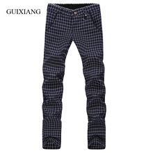 2017 new seasons style men's trousers fashion leisure European and American simple style Plaid pants large size 28-38