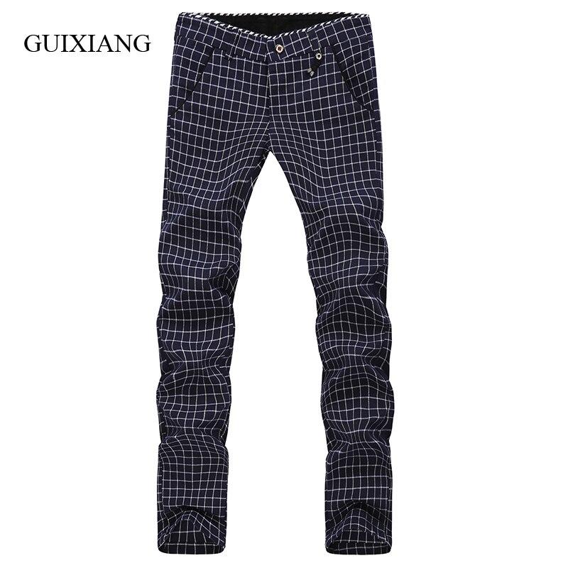 2017 nouvelles saisons style hommes pantalons mode loisirs européen et américain simple style Plaid pantalon grande taille 28-38