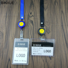 BINXUE Cover Card & ID Holders,Work card identification tag badge Can hang, you can clip Easy to buckle 1.5 width