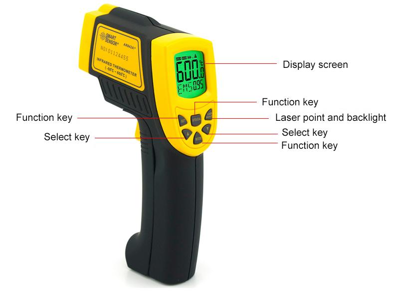 IT03-Infrared Thermometers อินฟราเรดเทอร์โมมิเตอร์ AR842A+ -50C to 600C