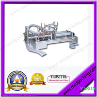 5 100ml Double Head Liquid or Juice Pneumatic Filling Machine YS 100 GRIND