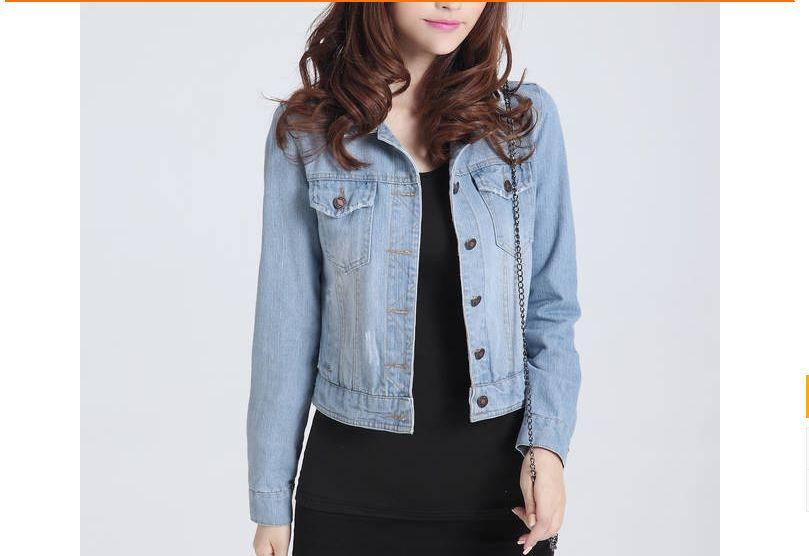 Женская Весенняя джинсовая куртка синие короткие джинсовые куртки винтажный обрезанный кардиган пальто Летние Стильные куртки mujer jaqueta джинсы - Цвет: 1