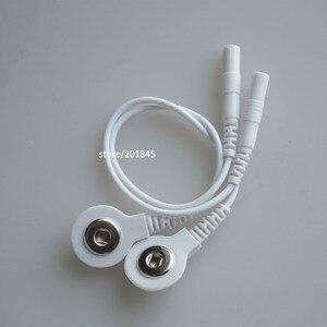 1 пара проводов для цифровой терапии TENS, кабель для цифровой терапии, массажер, Проволочная вилка 2,0 мм