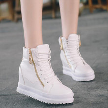 New Women's wedge Height Increasing Shoes Autumn Breathable Platform Women Highe Heel Women Thick Bottom Zapatos Mujer Elevator