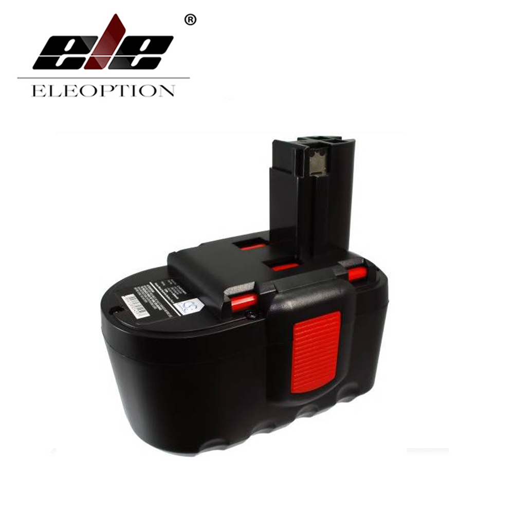 ELEOPTION 24V 3.0Ah Ni-Mh Power Tool Battery for Bosch 2607335268 2607335279 2607335280 BAT030 BAT031 BAT240 BAT299 BH-2424 for bosch 24v 3000mah power tool battery ni cd 52324b baccs24v gbh 24v gbh24vf gcm24v gkg24v gks24v gli24v gmc24v gsa24v gsa24ve