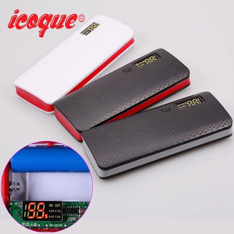 Power Bank 20000mah (No Battery) USB Port for Xiaomi Huawei Mobile Phone Charger Powerbank Case Pover 18650 DIY Power Bank Box