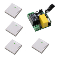 New AC 220 V 1CH Wireless Remote Control Switch Mini Receiver With Case 4 Transmitter Safer