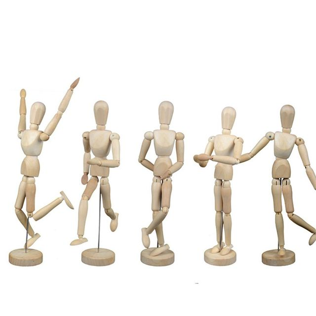Artist New Creative 12cm Wooden Movable Limbs Male Figure Model Mannequin  Doll For Art Sketch Drawing Puppet Toys