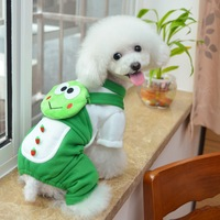Cute Frog Dog Clothes Winter Funny Cosplay Clothing For Dog Yorkies Clothes Pet Costume Apparel Outer