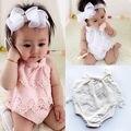 Meninas Do Bebê recém-nascido Bodysuit Corpo Roupas Bebes Roupa Macacão Sunsuit Bonito Flor Roupas 0-18 M