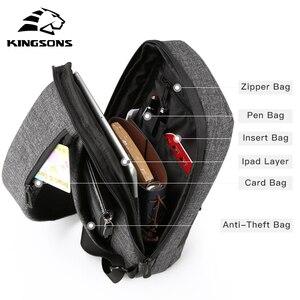 Image 3 - Kingsons 가슴 가방 단일 어깨 백 팩 크로스 바디 가방 캐주얼 메신저 짧은 여행을위한 작은 가방