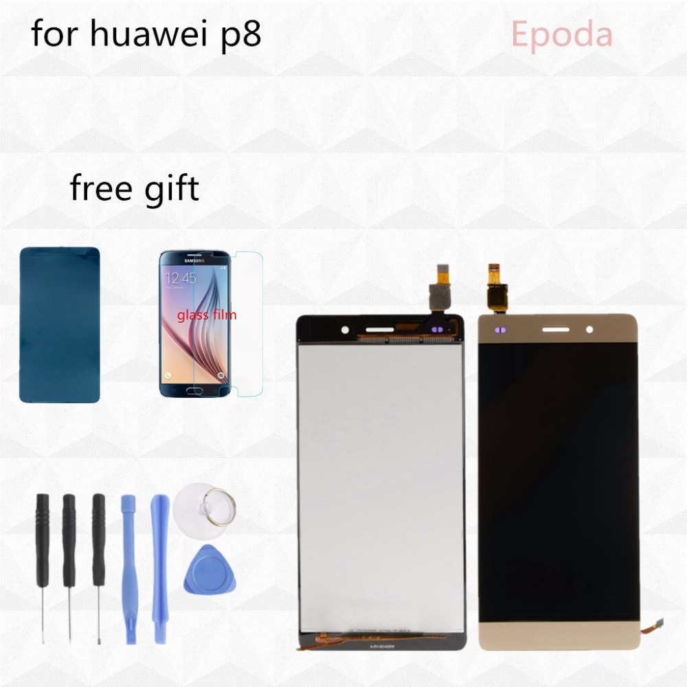 For Huawei P8 Lite LCD Display+Touch Screen Original Digitizer Glass Panel Replacement For Huawei Ascend P8 Lite 5.0 Inch 100% tested original for huawei ascend p7 lcd display touch screen digitizer assembly 5 inch touch panel replacment