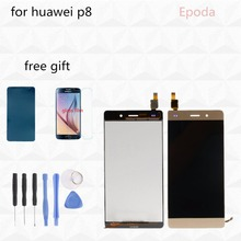 For Huawei P8 Lite LCD Display+Touch Screen Original Digitizer Glass Panel Replacement For Huawei Ascend P8 Lite 5.0 Inch