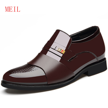 Spring Autumn Newly Invisibly Increasing 6CM Men Formal Wedding Shoes Luxury Business Dress Loafers Pointy