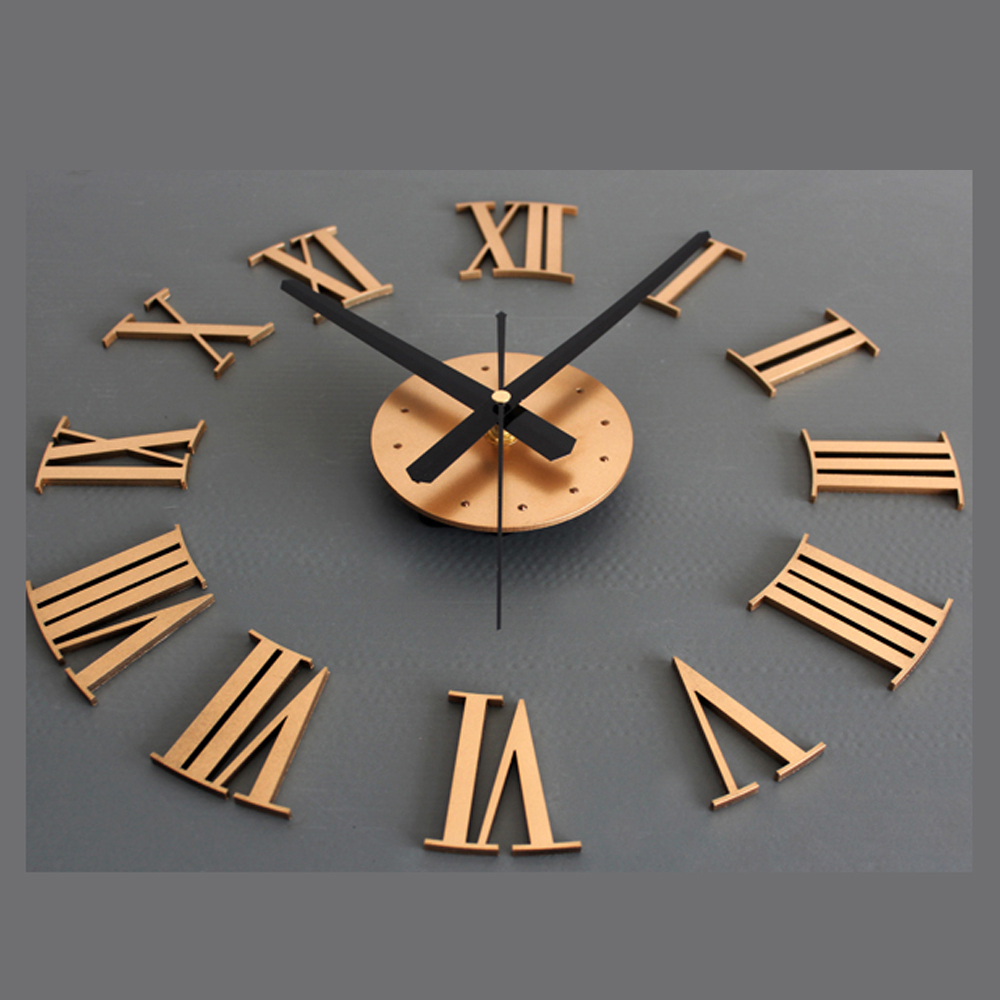 Creative DIY Wall Clock Modern Design Living Room Clocks Vintage Retro  Style Roman Numbers Wall Watch Silent Home Decor In Wall Clocks From Home U0026  Garden On ...