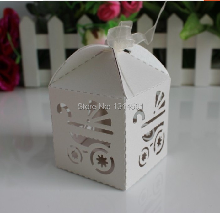 48 Pcs/lot Hollowed Stroller Candy Box Baby Shower Favour Party Supplier  Wedding Favor Giveaways Return Gifts Caixa Papel In Candy Boxes From Home U0026  Garden ...