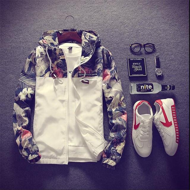 Мужская куртка-бомбер с цветочным принтом в стиле хип-хоп, приталенная куртка-бомбер с цветочным принтом, мужская куртка с капюшоном, большие размеры 4XL,