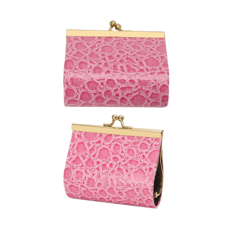2017 Fashion Women Girls Embossed Mini Wallet Short Coin Purse Hasp Clutch Holder Handbag PVC Mental Small Change Solid Elegant casual weaving design card holder handbag hasp wallet for women