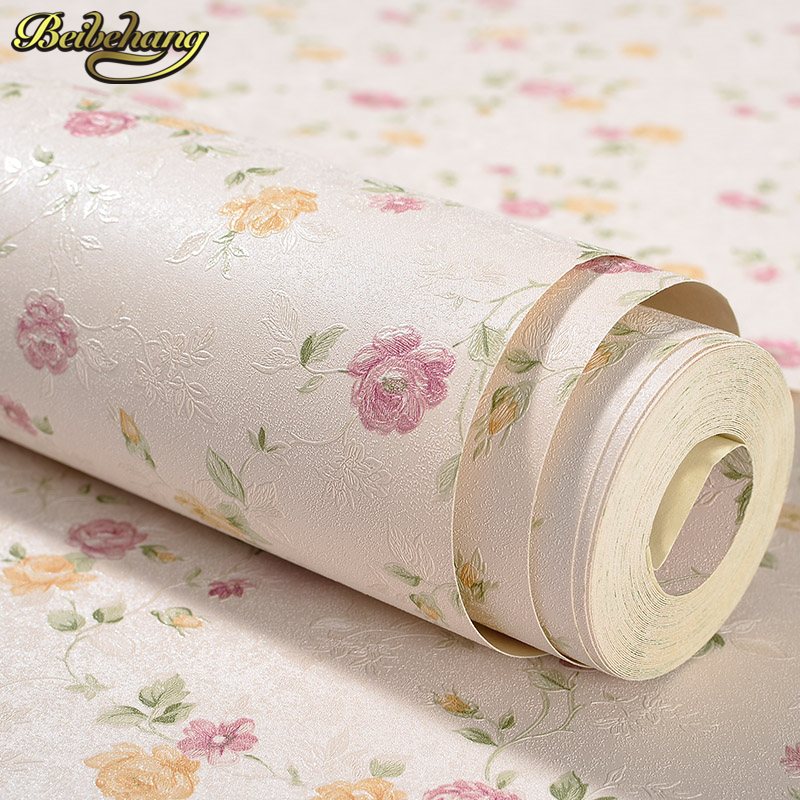 beibehang Modern PVC Small floral Wallpaper ROll Wall paper Luxury Classic  For Living room TV Sofa background papel de parede non woven bubble butterfly wallpaper design modern pastoral flock 3d circle wall paper for living room background walls 10m roll