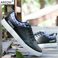 2017 Spring Fashion New Men's Casual Shoes Breathable Shoes Men's Pu Leather Shoes 3 Color 39-44 Students Outdoor race Shoes