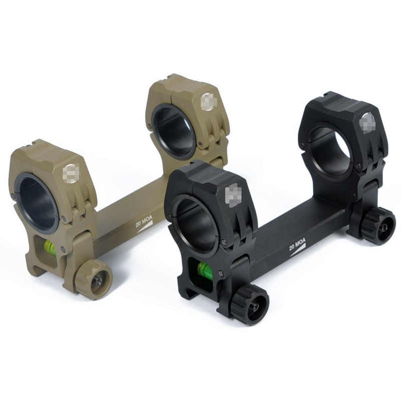 "CQC Tactical Airsoft Hunting M10 Optics Rifle Scope QD Mount 1"" / 30mm Diameter Rings With Bubble Level"