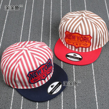 New York Kids Cotton Caps Striped Boys Baseball Caps Summer Hats Children Caps Girls Baseball cap