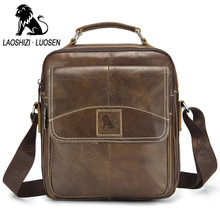 Retro Casual Bag Genuine Leather Men Brand Design Crossbody Shoulder Bags Business Bags Male Casual Top Handle Messenger Bags high end vegetable leather bags full grain cattle hide single shoulder bags business casual men male soft messenger bags xw6205