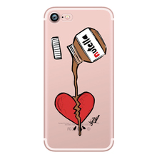 Food Donuts Chocolate Ice Cream Cartoon Funny Case for Apple iphone 5S 5 SE 7 8 6 6S PLUS X 10 Soft Silicone Transparent Capinha
