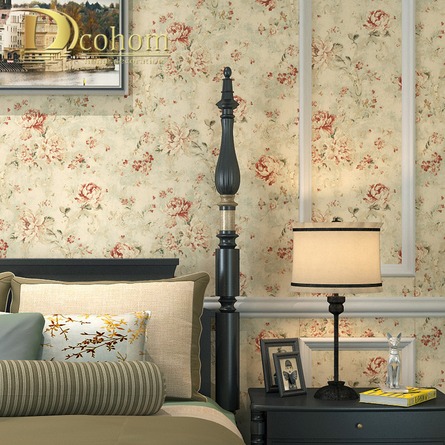 Red Wallpaper Designs For Living Room Online Buy Wholesale Red Rose Wallpaper From China Red Rose