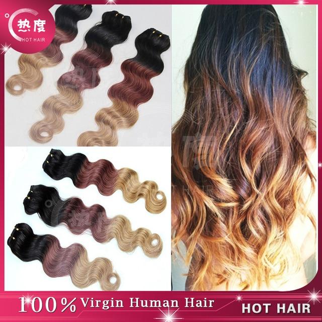 Top 7a Grade Ombre Brazilian Human Hair Brazilian Body Wave Ombre