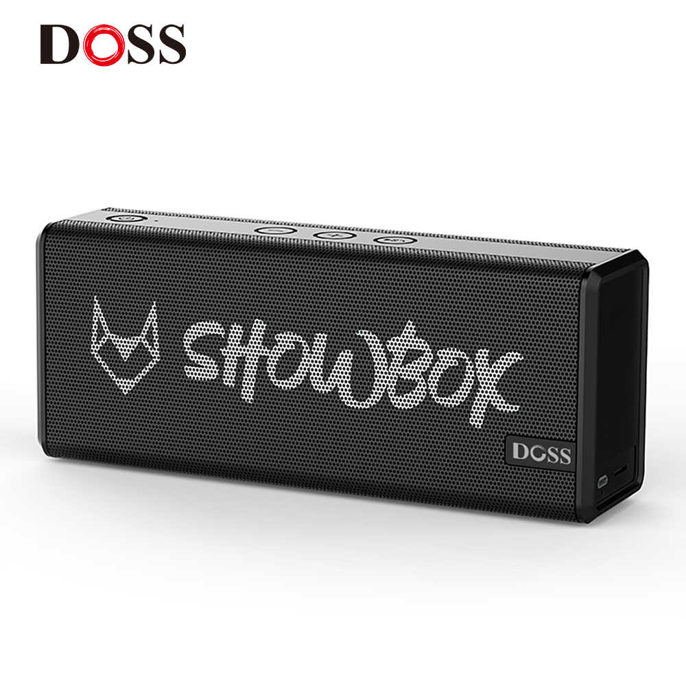 Doss Showbox Bluetooth Speaker Sound System Portable Nirkabel Loudspeaker 360 ° Suara Stereo dengan Bass/Built-In MIC Mendukung BT TF