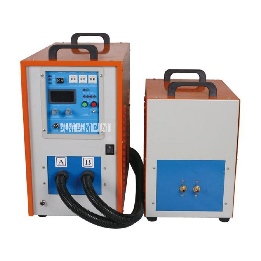 40KW High Frequency Brazing Machine Induction Soldering Metal Brazing machine Smelting Melting Furnace Annealing Equipment 380V 220v 15kw metal smelting furnace high frequency induction heating machine high frequency welding metal quenching equipment