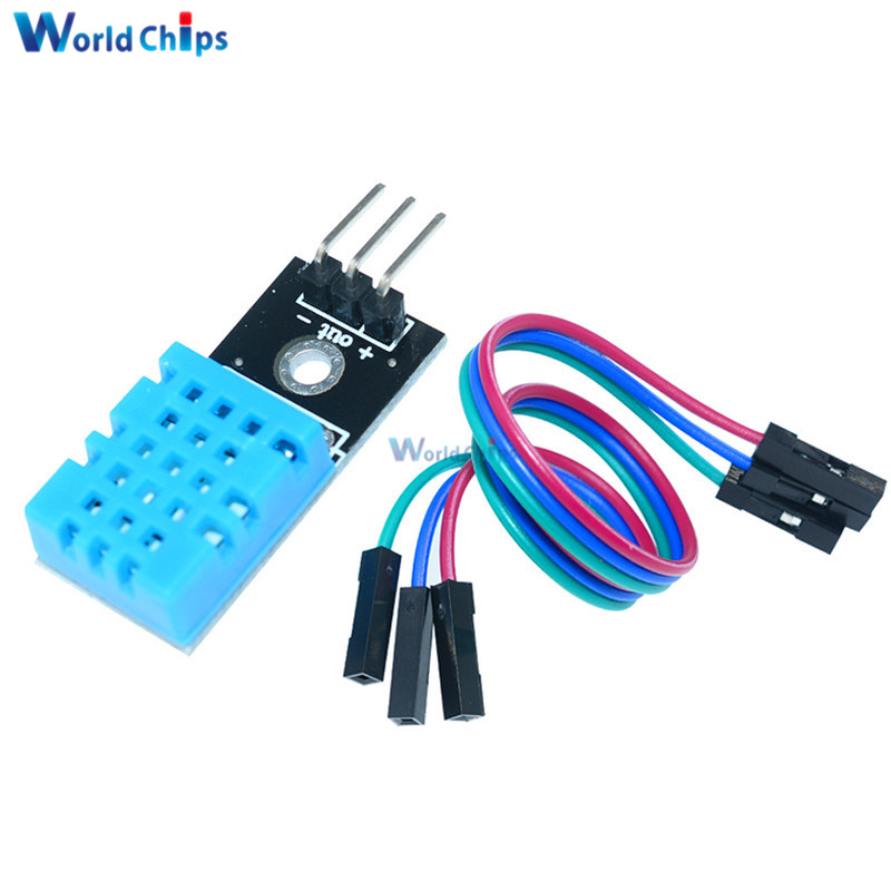 5V DHT11 Temperature /& Relative Humidity Sensor Module 3 Cables for arduin0