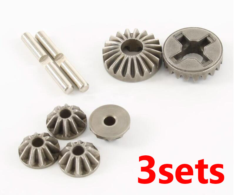 Free Shipping 3sets HSP 85736 Differential gears kit front/medium/rear diff. bevel gears kit spare parts for 1/8 RC GP Car free shipping hsp 08023 speed reduction differential steel gear diff gear set for 1 10 rc car 94108 94188 upgrade spare parts