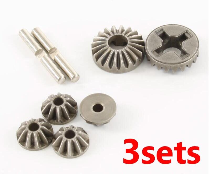 Freies Verschiffen 3 sets HSP 85736 differentialgetriebe kit vorne/medium/hinten diff. kegelräder kit ersatzteile für 1/8 RC GP Auto