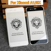 цены Screen Protector For Xiaomi Mi A1 Full cover Tempered Glass For Xiaomi Mi 5X 9H Ultra Thin anti-explosion Film A1 glass 5X glass