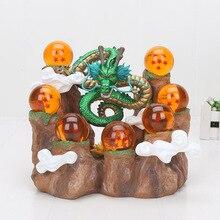 Bonecos de dragon ball z, bonecos de ação dragon ball z de anime, modelo colecionável dbz com prateleira de montanha