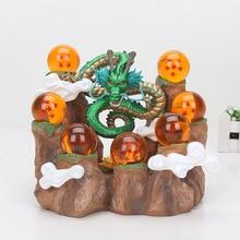 Figurines Dragon Ball Z à collectionner, jouets animés Shenron, modèle DBZ, avec étagère de montagne