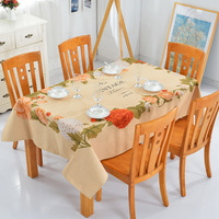 2018 Pastoral BeddingOutlet Plant Printed Tablecloth Cotton And Linen Dinner Table Cloth 2 Sizes Hot