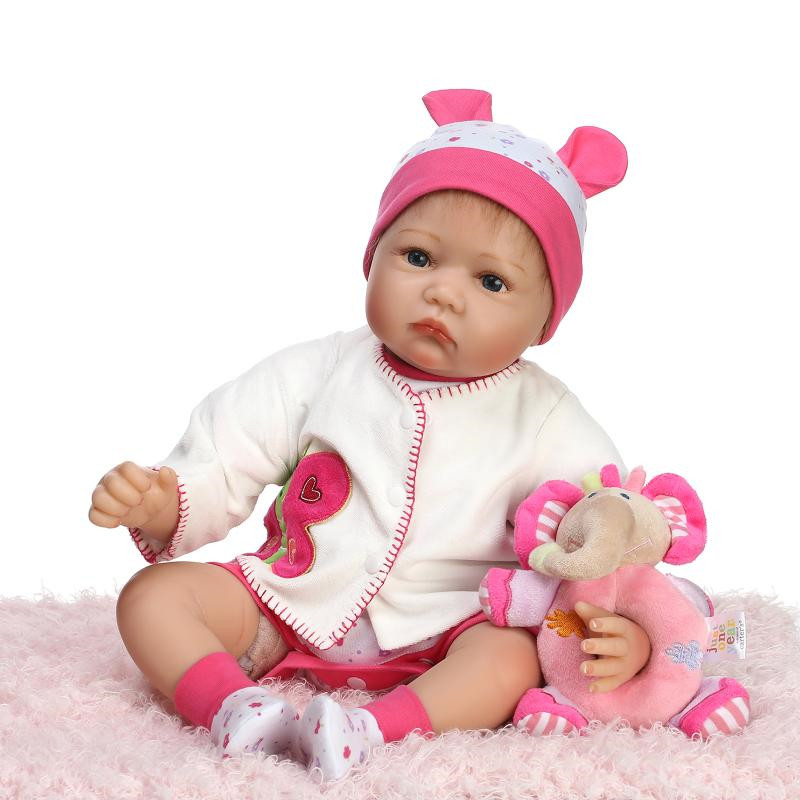 lifelike silicone reborn baby doll lovely accompany newborn babies sleeping doll Children Christmas birthday gift toy brinquedos silicone reborn baby doll toy lifelike reborn baby dolls children birthday christmas gift toys for girls brinquedos with swaddle
