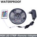 Waterproof LED Strip 300leds/5M 3528 SMD + 24Key Mini Remote Controller + 12V 2A Power Supply Flexible LED Light Free Shipping
