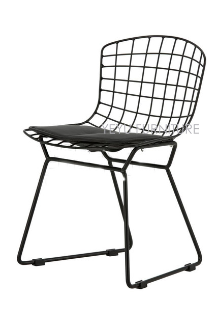 Kids Wire Chair Children Bertoia Chair Minimalist Modern Baby Dining Study  Leisure Play Chair Popular White Or Black