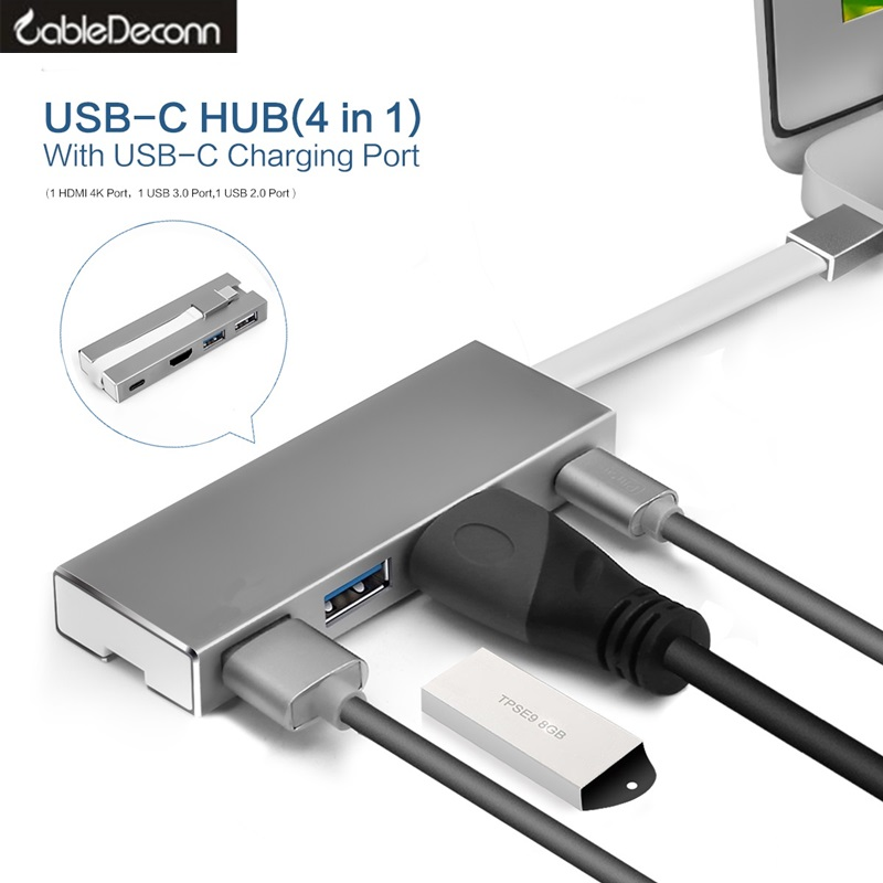thunderbolt 3 hdmi 4k usbc Adapter type-c to usb 3.0 usb c charge cable Multiport hub For macbook pro 2017 dell 15 lenovo Xiaomi