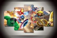 5 Pz SENZA Cornice Stampata Marvel Super Heroes wall Art decor room stampa poster immagine stampa su tela Soggiorno camera dei bambini manifesti